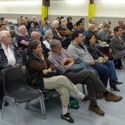 About 100 people attended the lecture