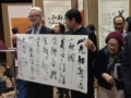 Mr. Pan Wenhai vice-secretary of the  China Calligraphers Association presented one of his works to Roy Atkinson