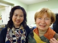 Ginette Saint-Cyr (r) with one of the new members of the CCFS Dr. Qian Pu