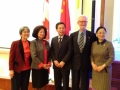 Luna Yap, Lolan Merklinger, Wentian Wang, Roy Atkinson and Ms. Yongjiu LU, First Secretary (Cultural)
