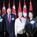 2010-10-14_Executive committee members from l. to r. are Lorraine Farkas, James Steele, Gilliane Lapointe, Lolan Merklinger, Shiyou Li